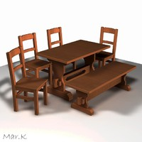 3ds dining table chairs