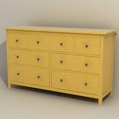 Ikea Schreibtisch Im Schrank ~ dresser drawer 3d models ikea tags ikea hemnes classic drawer