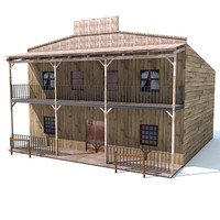 3d model of western house