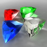 3d model arrow cut gem