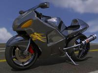 suzuki hayabusa sportbike 3d model