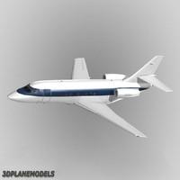 dassault falcon business jet 3d dxf