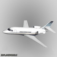 dassault falcon business jet 3d model