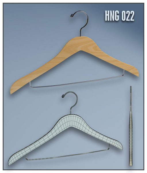 clothes hanger shop 3d model - CLOTHES HANGERS - Shop Design / Visulation Equipment Vol.1... by ArchonHero