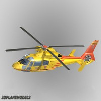 eurocopter dauphin helicopter 3d model