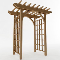 3d model arbor trellis