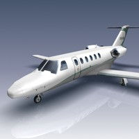 citation cj2 jets 3d max
