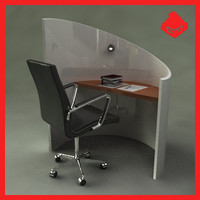 computer writing desk 3d max