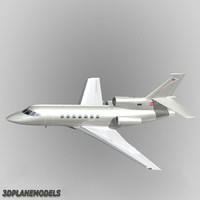 dassault falcon 50 global 3d model