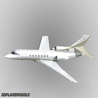 3d model dassault falcon 50 private