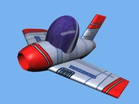style jet fighter 3d lwo
