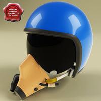 pilot helmet 3d model