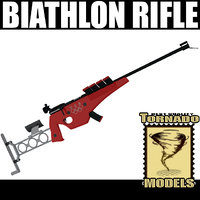 3d model biathlon rifle