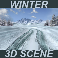 Winter 3D Scene