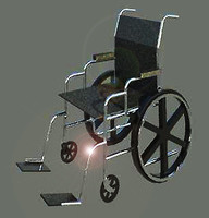 wheelchair 3d 3ds