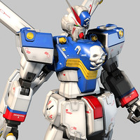 3ds max xm-x3 cross bone gundam