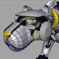 3d robot feline model