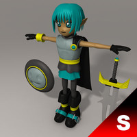3d model japanese fantasy character