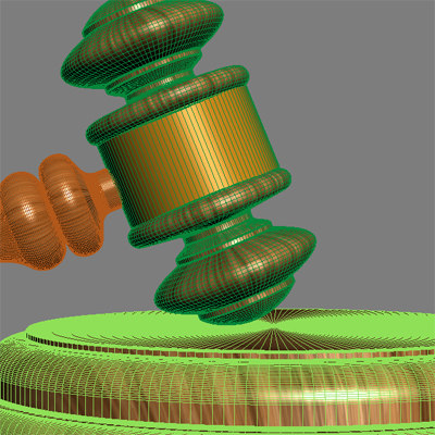 3d gavel - 3D Gavel.zip... by Giimann