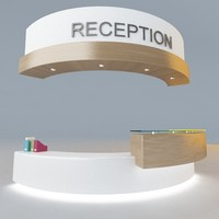3ds max modern reception desk