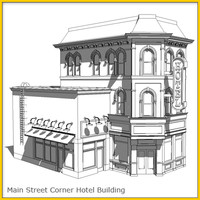 Main Street Corner Hotel 1 Whitebox