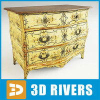 north italian commode 3d max
