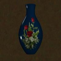 blue vase 3d 3ds