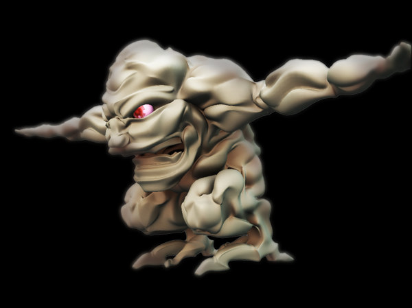 new age muscle monster 3d 3ds - New age muscle monster design   model is... by teework