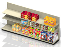 C-Store Shelf with Product