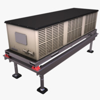 3d model hvac rooftop cooling unit