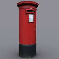 3d model postbox mail box