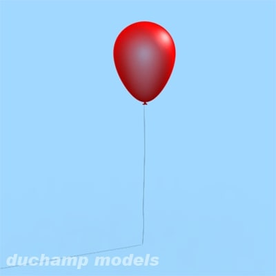 free 3ds mode balloon red string - Balloon... by Duchamp Models