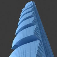 pentominium skyscraper construction 3d max