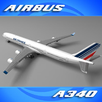 3d airfrance a340 model