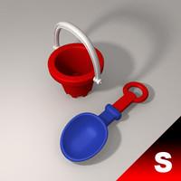 3d spade bucket