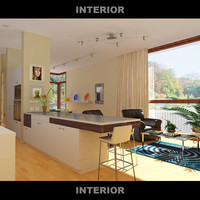 3d model of room interior