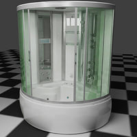 3d shower cubicle model