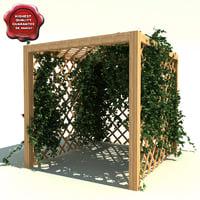garden pergola ivy 3ds