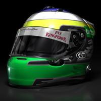 Giancarlo Fisichella 2009 F1 helmet