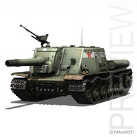 soviet heavy self-propelled gun c4d