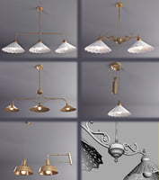 3d model lamps copper