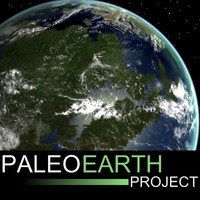 3d model paleoglobe earth late carbonferous