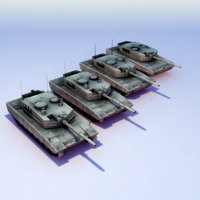 Leo2A4_Norge_LODs_3DSMax