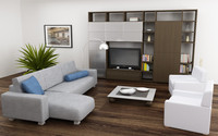 3d model of living room set 04