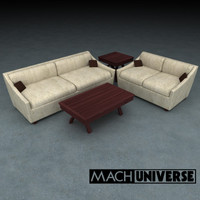 sofa table living room 3d lwo