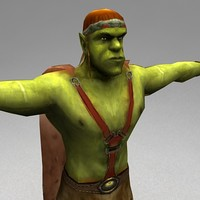 maya rigged orc warrior