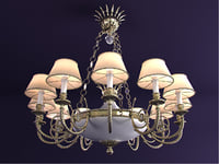 chandelier riperlamp minerva 274b 3d model