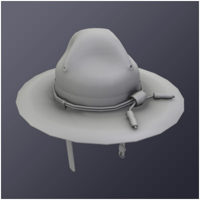 3ds Max Campaign Hat