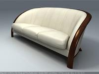 3d sofa armchair nieri mitos