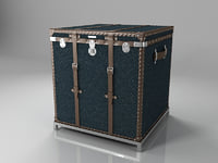 3d model modern trunk stand